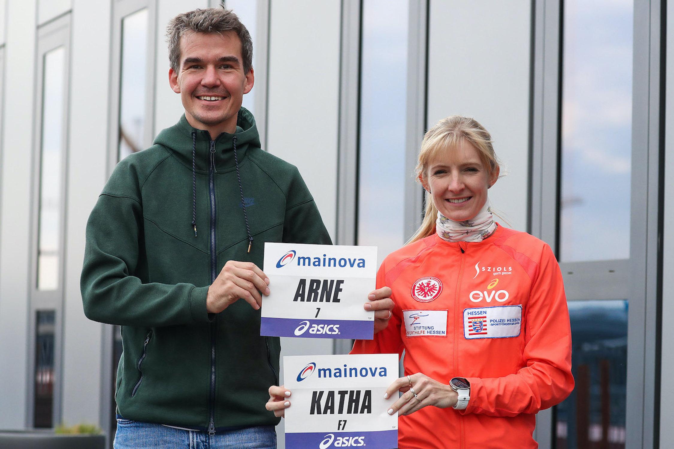 Arne Gabius und Katharina Heinig starten bem Frankfurt Halbmarathon Invitational