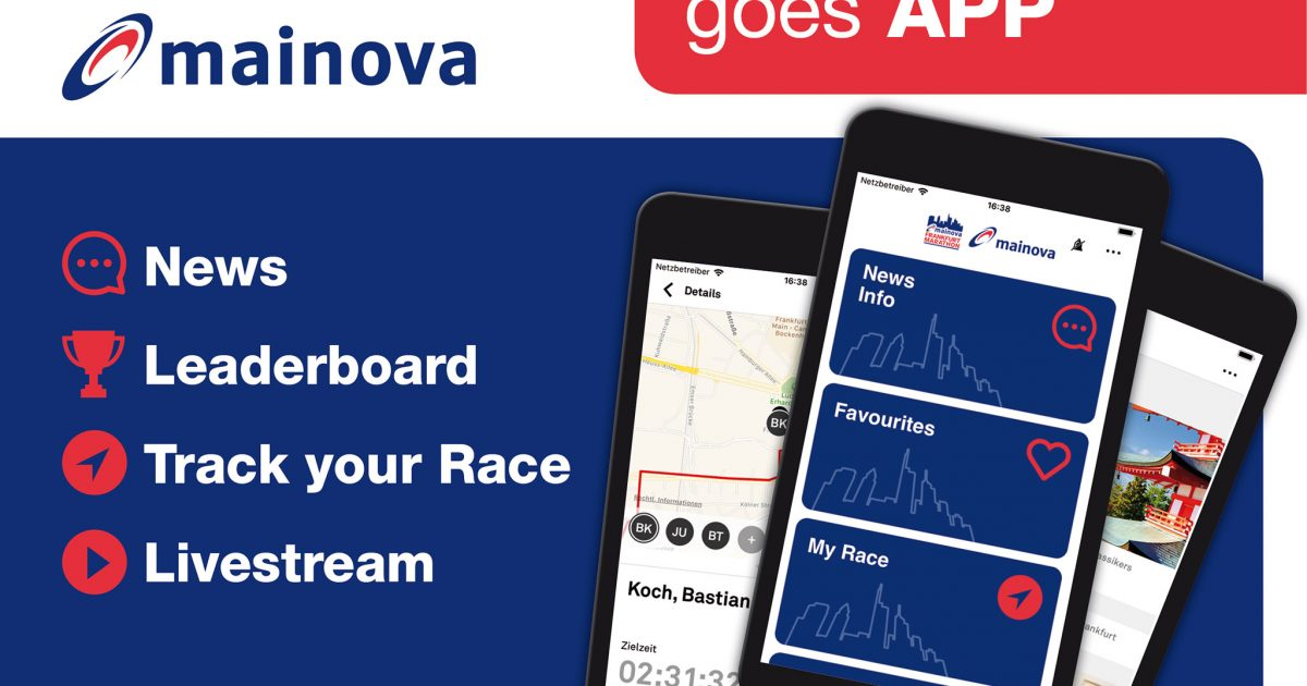 Download the Mainova Frankfurt Marathon App now! - mainova