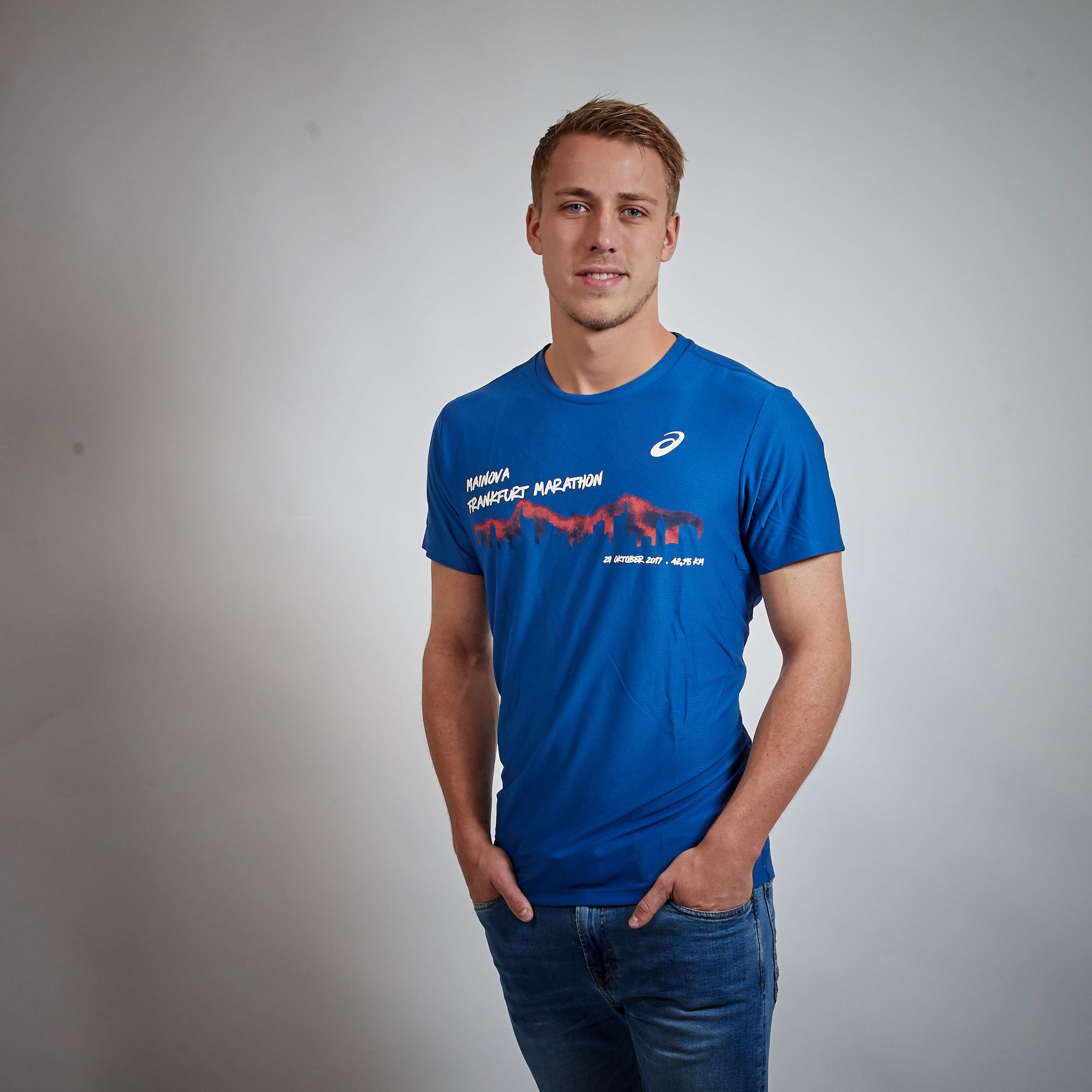 Asics Eventline T Shirt Mainova Frankfurt Marathon 2017 Herren